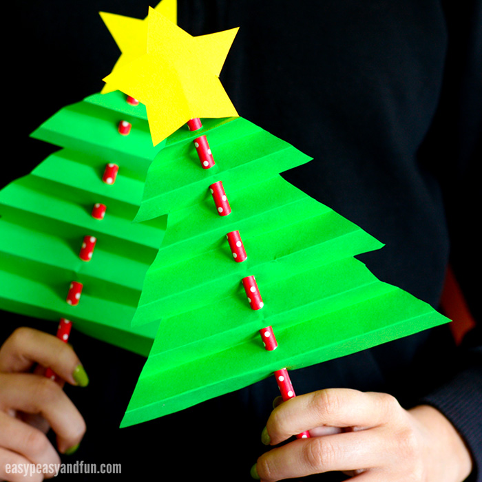 Christmas Tree Craft.Accordion Paper Christmas Tree Easy Peasy And Fun