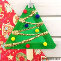 Christmas Tree from Craft Sticks