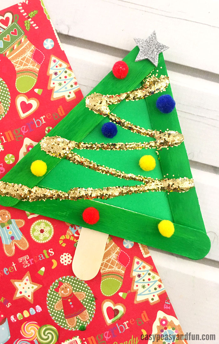 Christmas Tree from Craft Sticks Craft for Kids