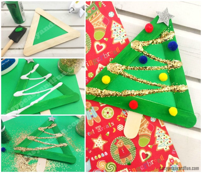 Christmas Tree from Craft Sticks Craft