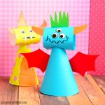 Cute Paper Cone Monster Craft