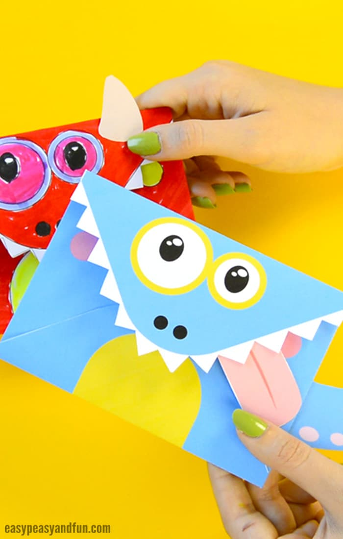 photograph regarding Printable Monster named Printable Monster Envelopes - Uncomplicated Peasy and Enjoyment