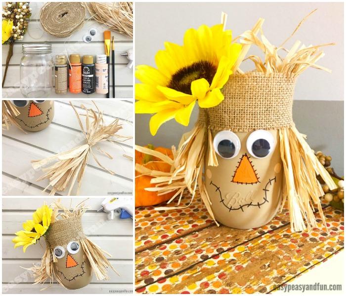 Cute Scarecrow Mason Jar