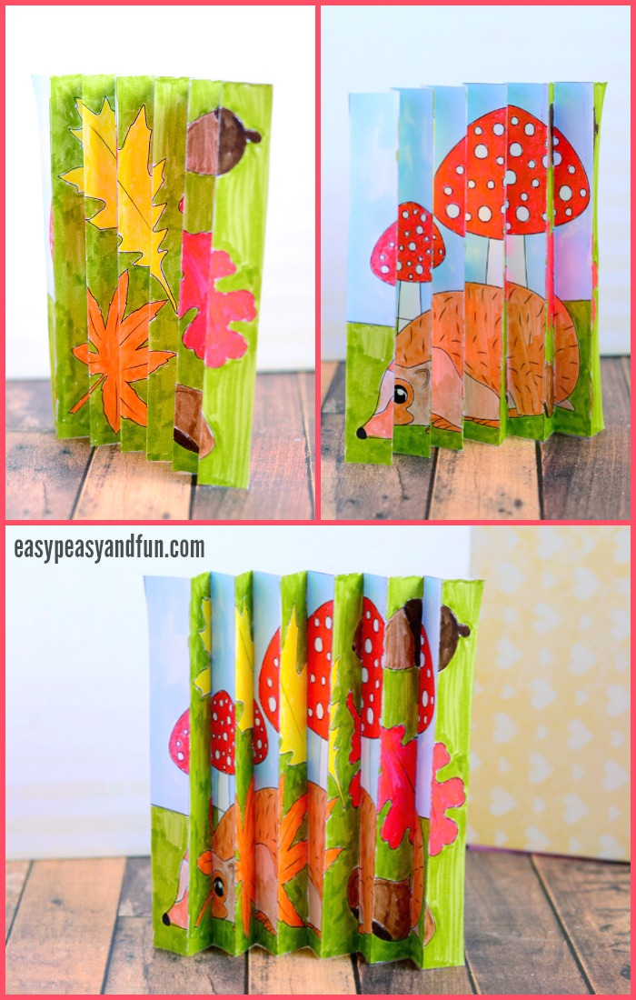 Fall Agamograph Template Craft for Kids