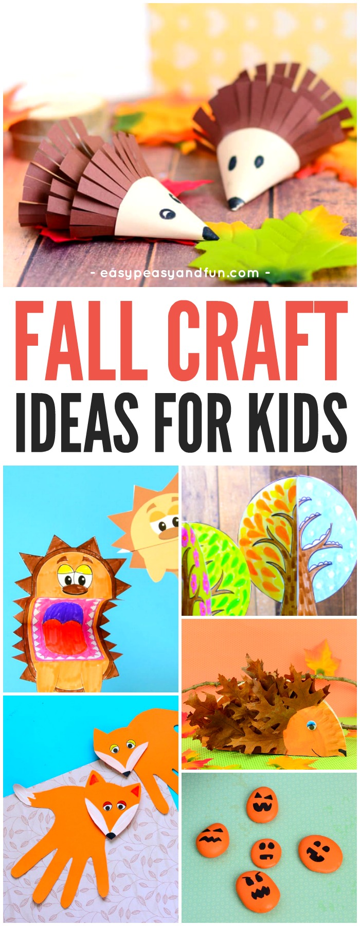 photograph about Printable Crafts for Kids known as Tumble Crafts For Children - Artwork and Craft Programs - Straightforward Peasy and Enjoyable