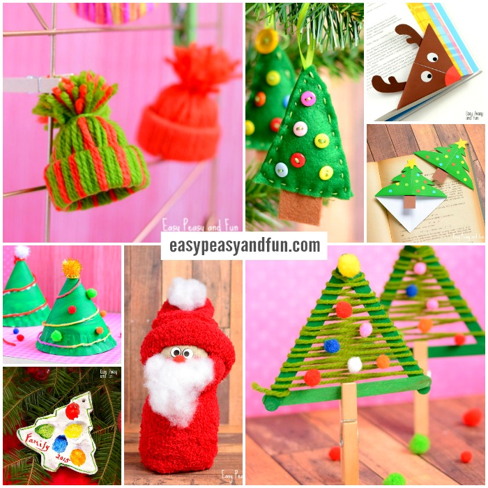 festive christmas crafts for kids to make - Christmas Decoration Crafts