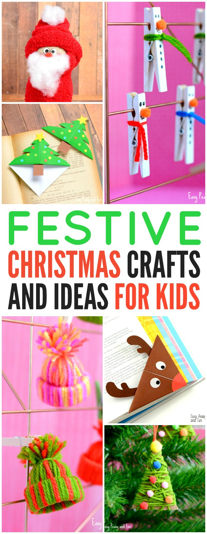 Festive Christmas Crafts For Kids Tons Of Art And Crafting Ideas Easy Peasy And Fun