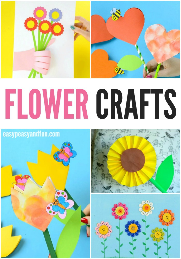 25+ Wonderful Flower Crafts Ideas for Kids and Parents to