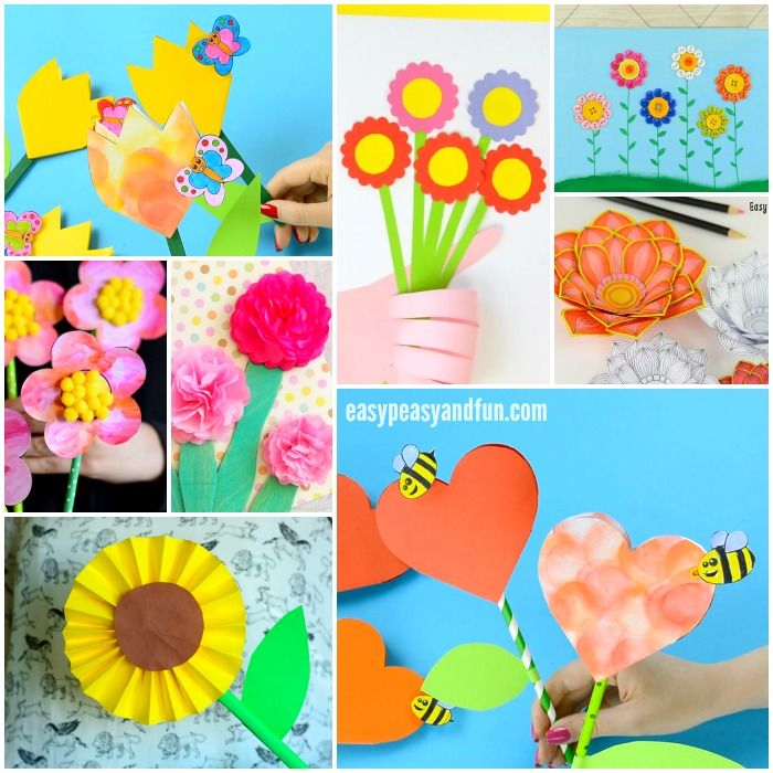 Craft Flowers For Kids Part - 47: Flower Crafts For Kids To Make
