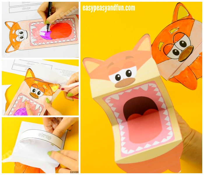 Free Printable Fox Puppets