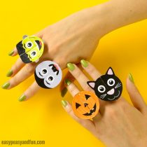 Halloween Monsters Paper Rings