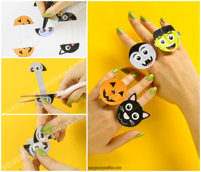 Halloween Monsters Paper Rings Paper Craft