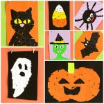 Halloween Torn Paper Art Craft Ideas for Kids
