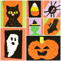 Halloween Torn Paper Art Ideas