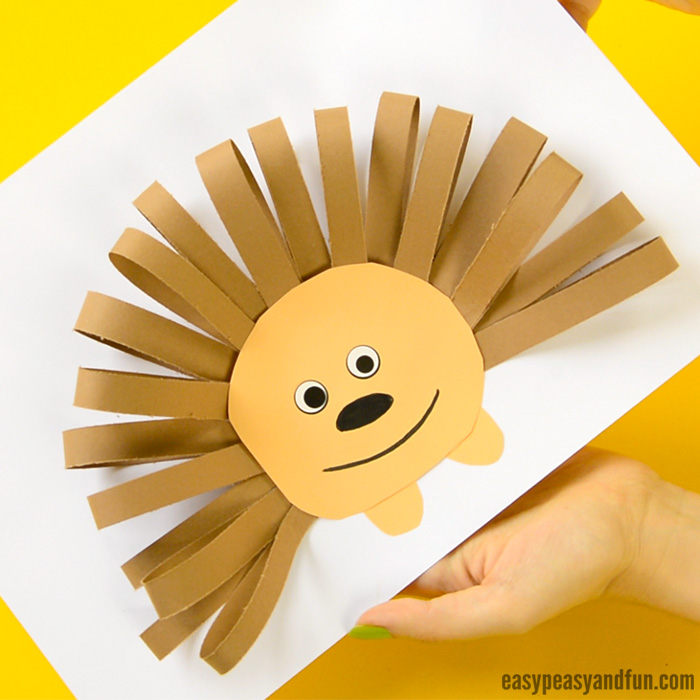 Hedgehog Paper Craft for Kids & Paper Strips Hedgehog - Easy Peasy and Fun