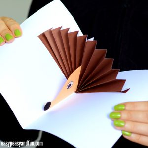 Hedgehog Pop Up Card Paper Craft