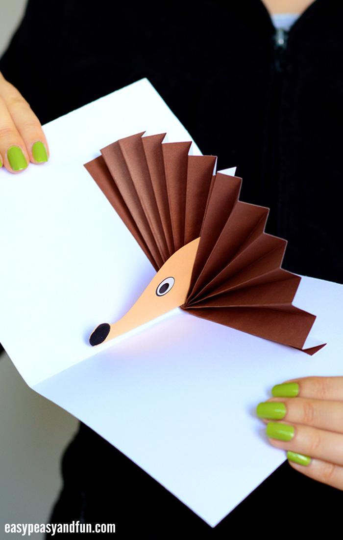 hedgehog pop up card hedgehog pop up card easy peasy and 4658
