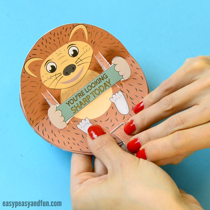 Hedgehog Pop Up Paper Craft for Kids