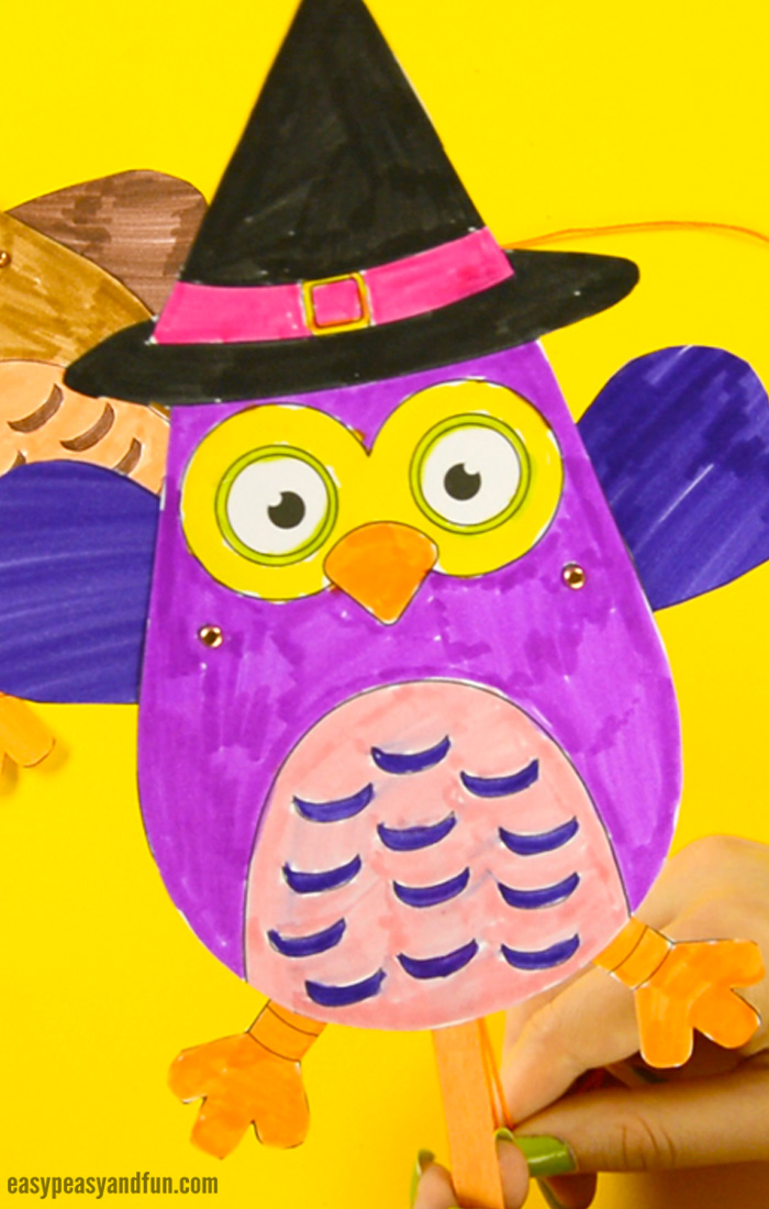 Movable Owl Paper Doll Easy Peasy And Fun