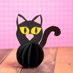 Paper Ball Black Cat Craft for Kids