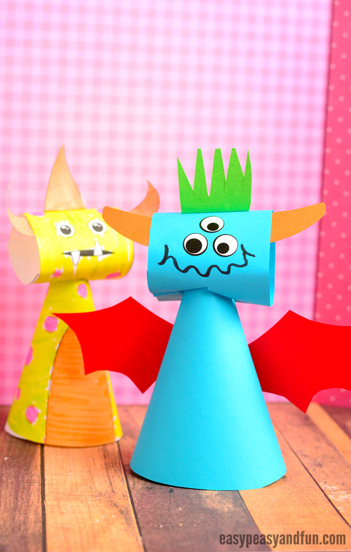 Paper Cone Monster Craft - Easy Peasy and Fun