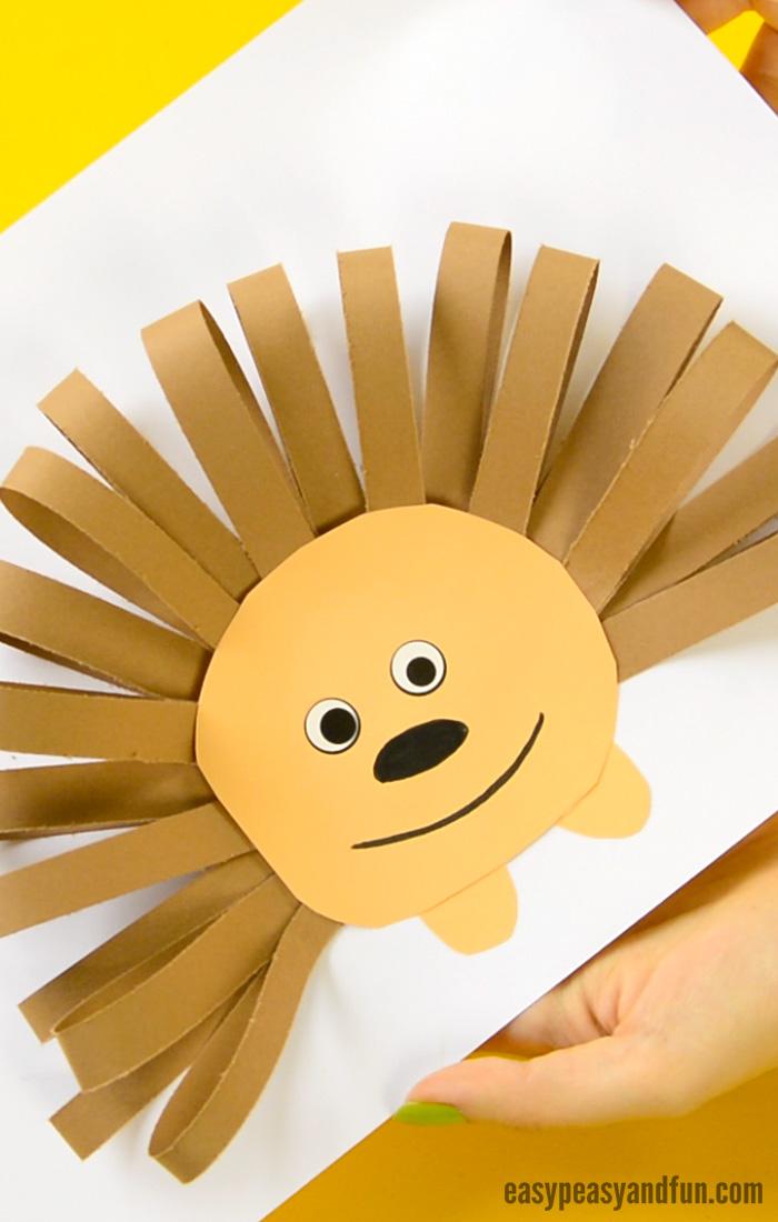 Paper Strips Hedgehog Craft for Kids