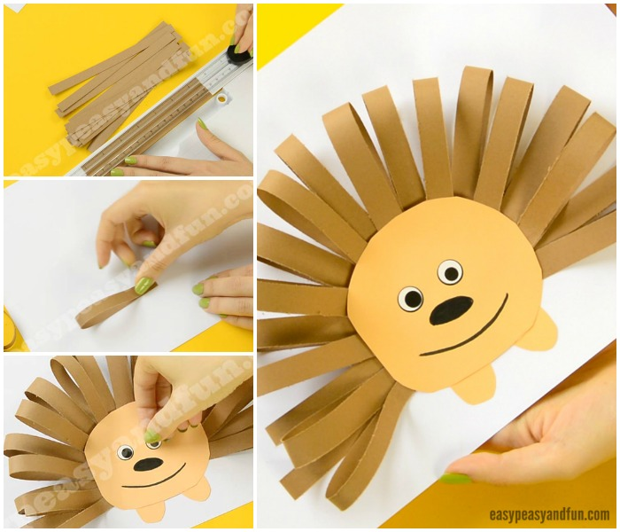 Paper Strips Hedgehog Fall Craft Idea