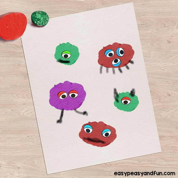 Potato Print Monsters