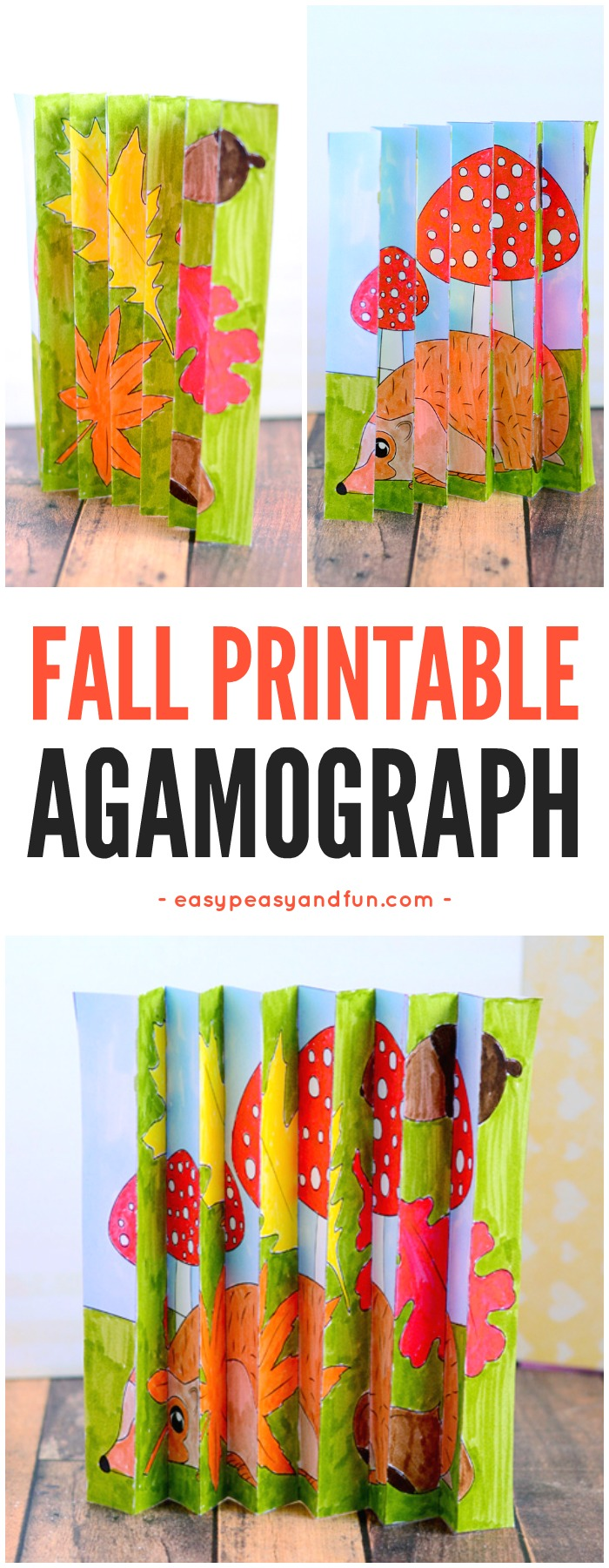 Fall Agamograph Template Kids Easy Peasy Fun
