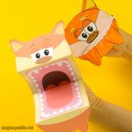 Printable Fox Puppets