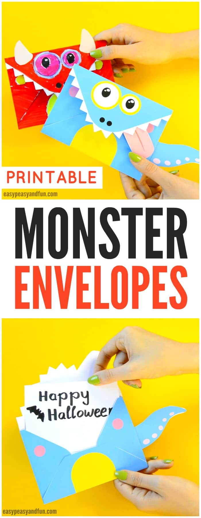 image regarding Printable Monster titled Printable Monster Envelopes - Uncomplicated Peasy and Exciting