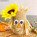 Scarecrow Mason Jar Craft for Kids