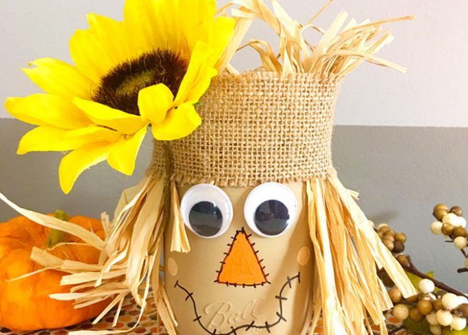DIY Scarecrow Mason Jar – Fall Mason Jar Crafts