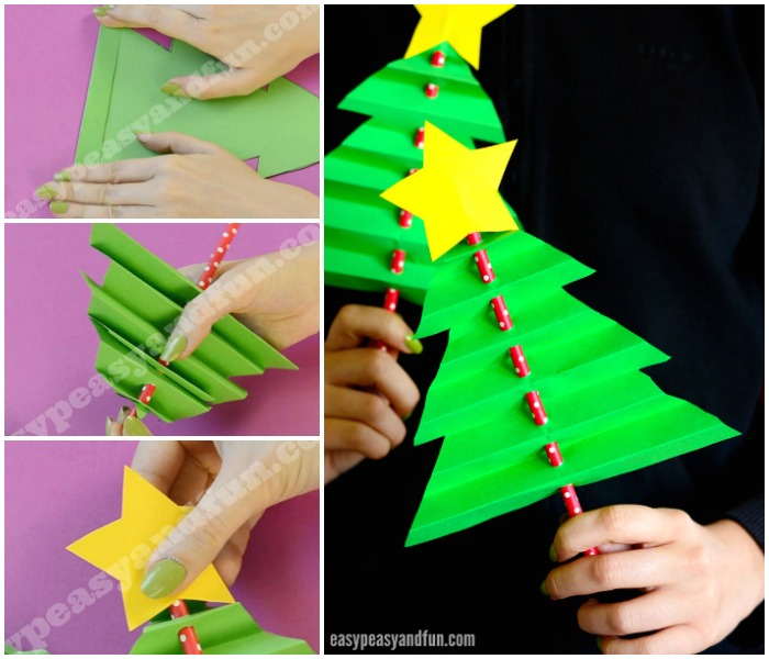 Simple Accordion Paper Christmas Tree