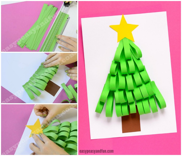 Simple Paper Strips Christmas Tree