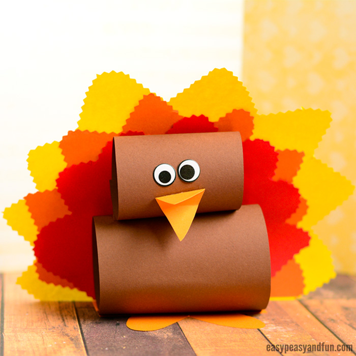 Simple Paper Turkey Craft Idea