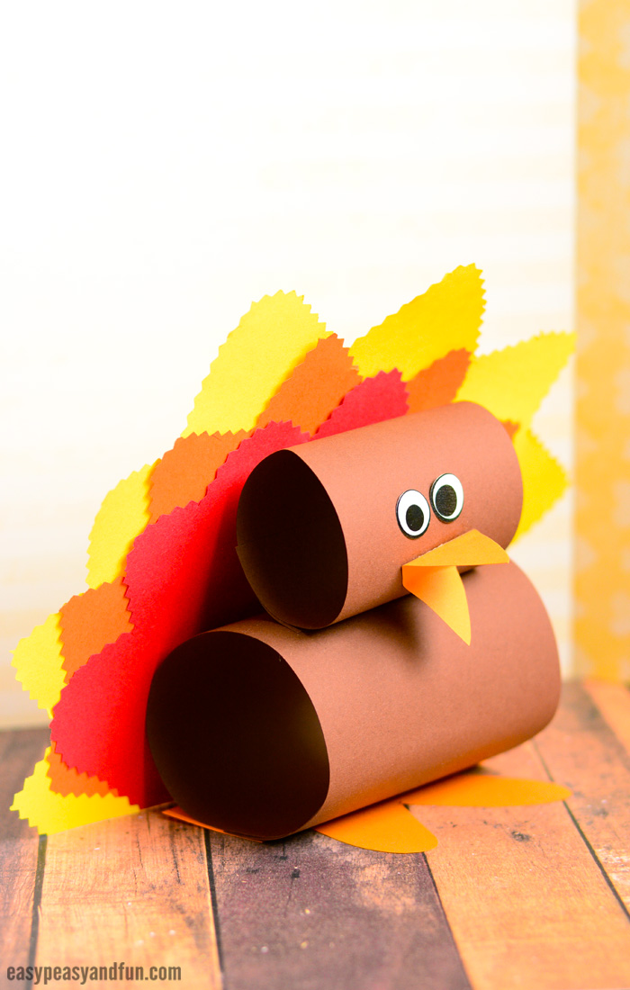 Simple Paper Turkey Craft for Kids