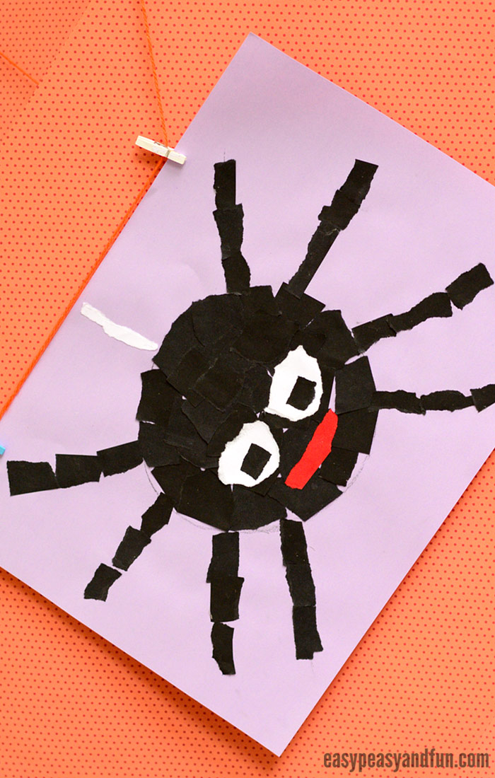 Spider Torn Paper Art