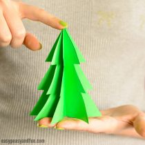 3D Paper Christmas Tree Template