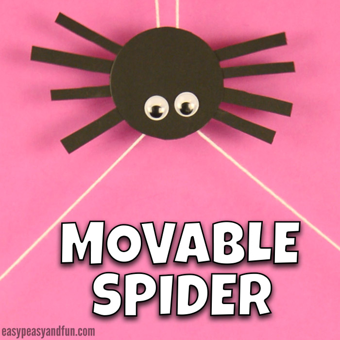 Cute Movable Spider Craft for Kids