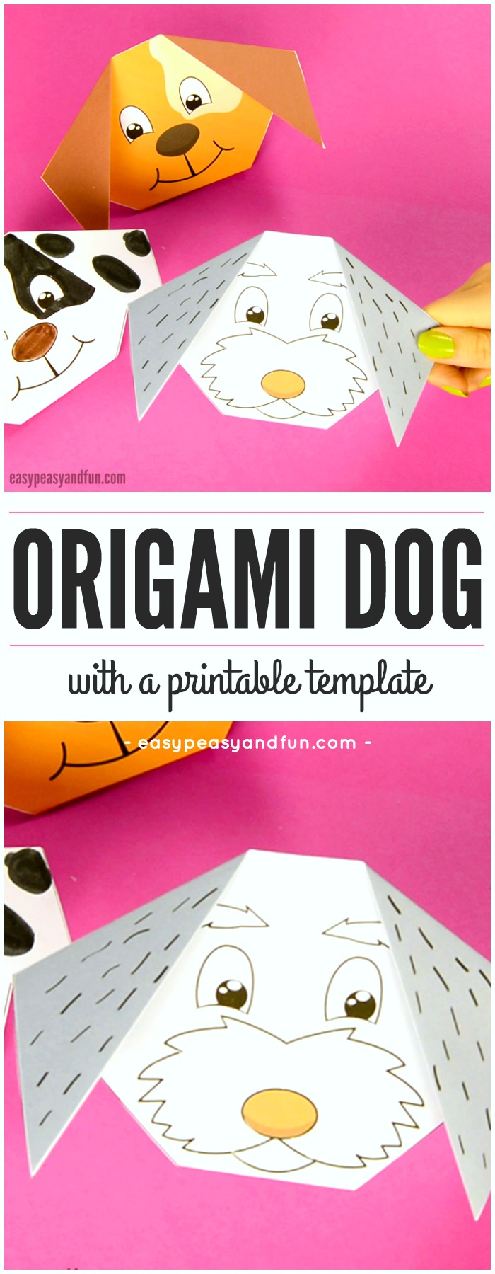 How to make an origami dog easy peasy and fun cute origami dog with printable template jeuxipadfo Image collections