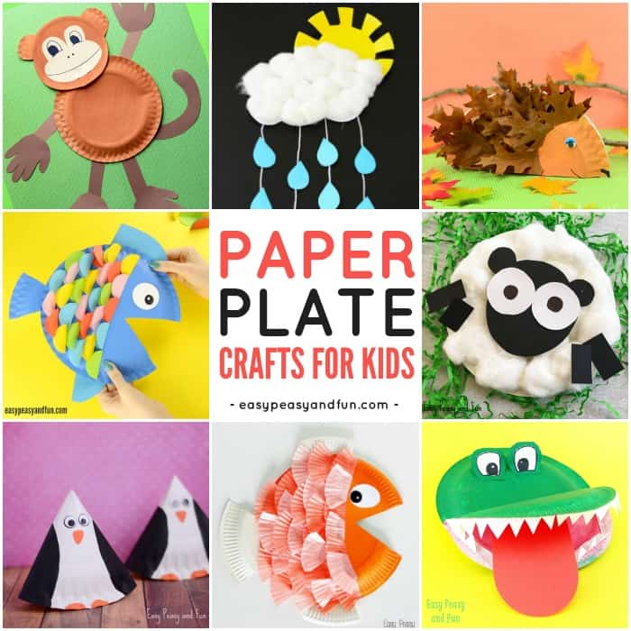 Cute Paper Plate Crafts for Kids