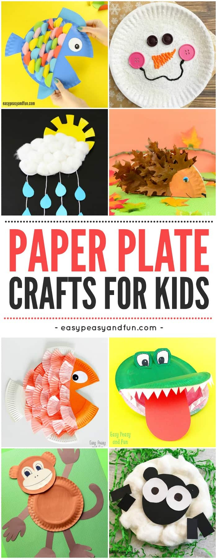 Fun paper plate crafts for kids. #craftsforkids #paperplatecrafts #paperplatecraftideasforkids