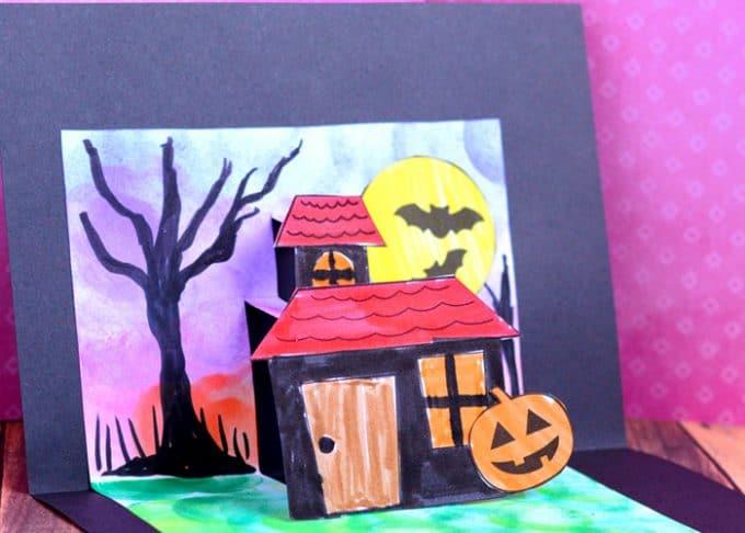 Halloween Pop Up Card Template