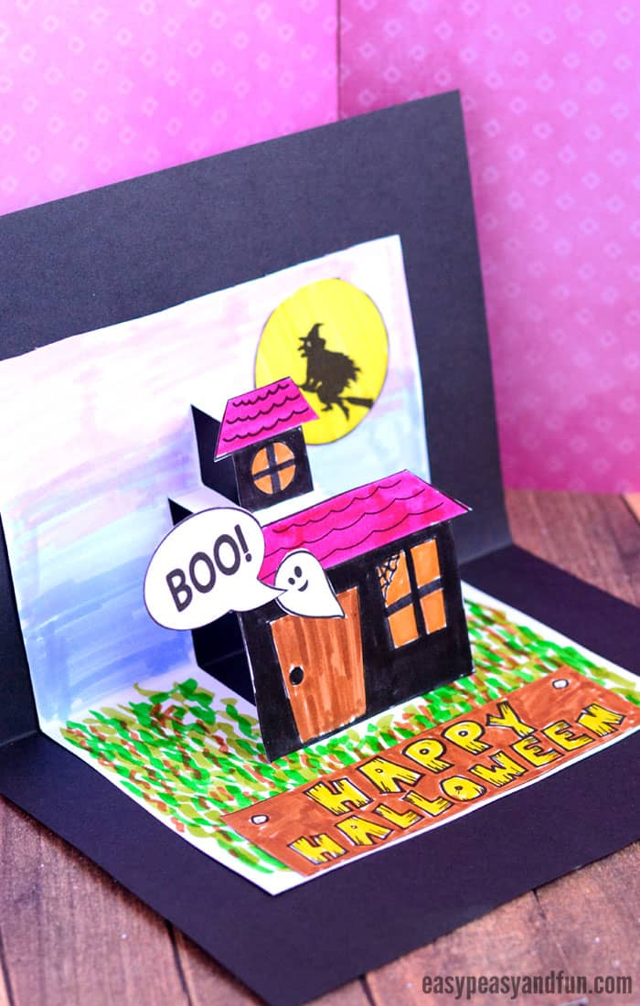 Halloween Pop Up Card Template for Kids