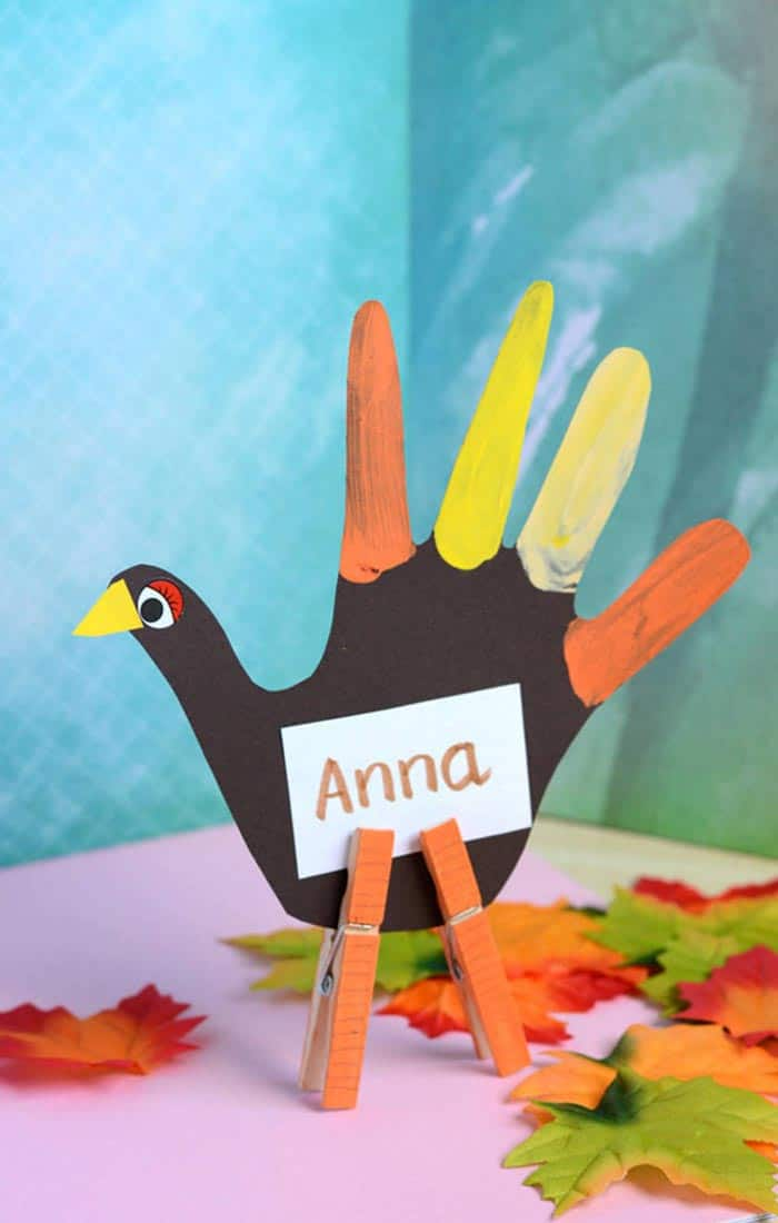 Handprint Turkey Place Holder
