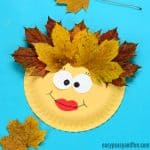 Leaf Face Paper Plate Craft