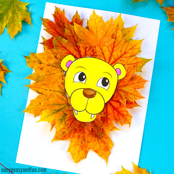 Lion Leaf Craft for Kids