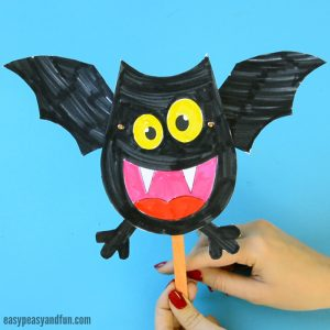 Movable Bat Paper Doll Craft for Kids