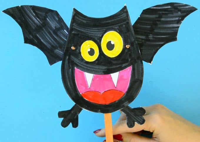 Movable Bat Paper Doll